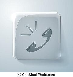 call. Glass square icon