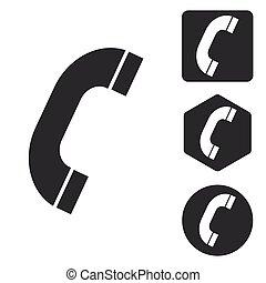 Call icon set, monochrome