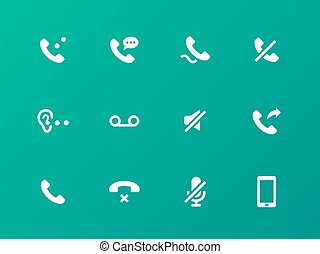 Call icons on green background.