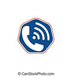 Call logo wifi icon design vector.