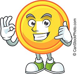 Call me funny chinese gold coin mascot picture style