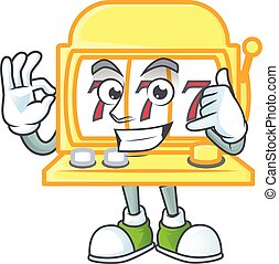 Call me funny golden slot machine mascot picture style