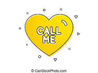 Call me icon. Sweet heart sign. Valentine day love. Vector