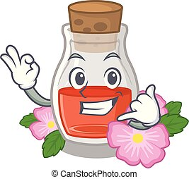 Call me rosehip seed oil on a mascot