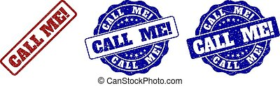 CALL ME! Scratched Stamp Seals