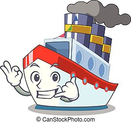 Call me ship contener a in shape cartoon