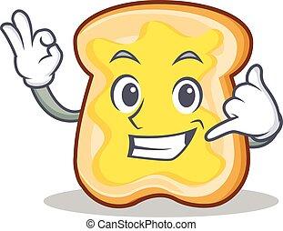 Call me slice bread cartoon character vector art...