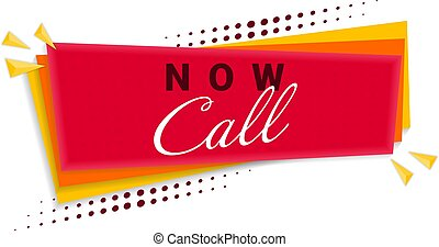 Call Now Banner Template Design. Vector Illustration.