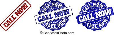 CALL NOW Grunge Stamp Seals