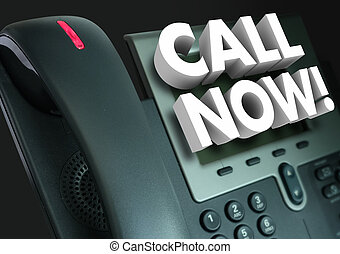 Call Now Office Telephone Customer Service Order Advertising