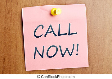Call now post it