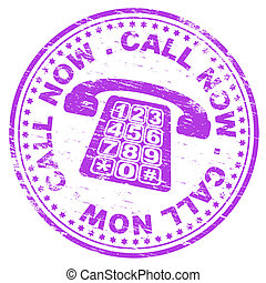 Call Now Stamp