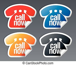 Call now stickers.