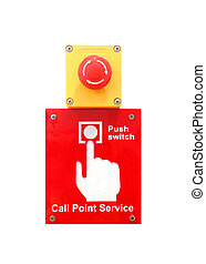 Call point service button - push for emergency