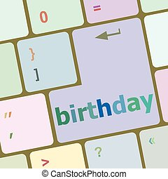call some party fun with the computer button birthday vector illustration