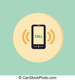 call., sonner, téléphone