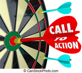 Call to Action Dart Board Marketing Advertising Direct...