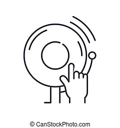Call to action icon, linear isolated illustration, thin line vector, web design sign, outline concept symbol with editable stroke on white background.