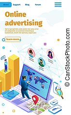 Call to Action Online Advertising Flat Banner.