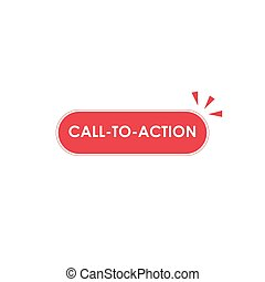 call to action round button with click effect. Stock Vector illustration isolated on white background.