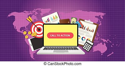 call to action traffic data goals graph money technology