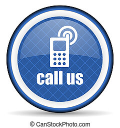 call us blue icon phone sign