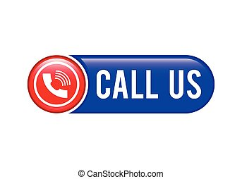 Call Us button, Contact Us icon design, Call Us Banner