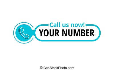 Call us button - template for phone number
