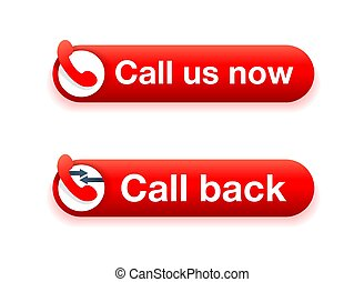 Call us now and Call Back buttons