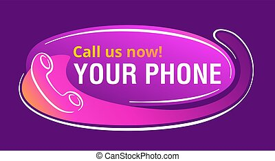 Call us now banner - headset and copy space
