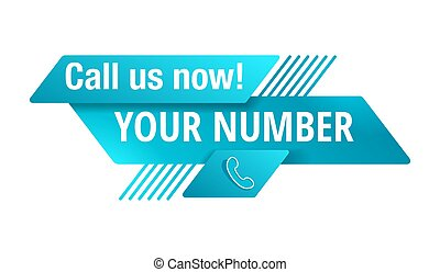 Call us now blue button