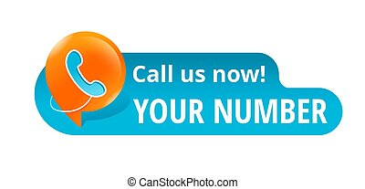 Call us now blue button with phone icon