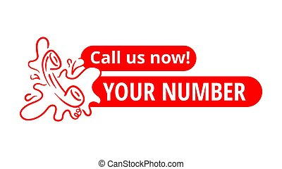 Call us now button - catchy drawn phone