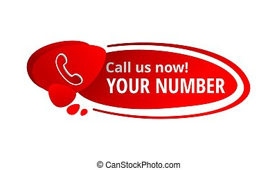 Call us now! Message in button
