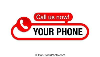 Call us now modern internet button