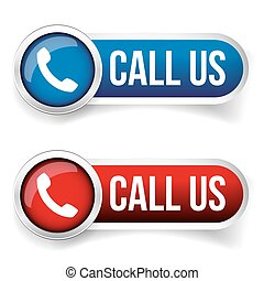 Call us - Phone icon vector button