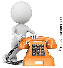 Call us. - The Dude pointing at a classic telephone. Orange...