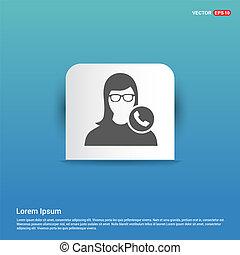Call user icon - Blue Sticker button