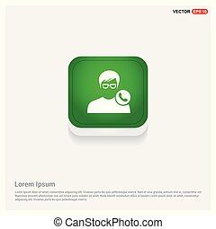 Call user icon Green Web Button