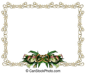 Calla Lilies Border Wedding invitation