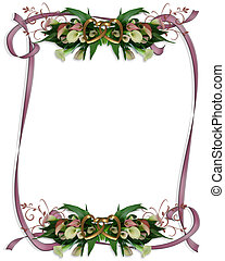 Calla Lilies Border Wedding invitation - Image and ...