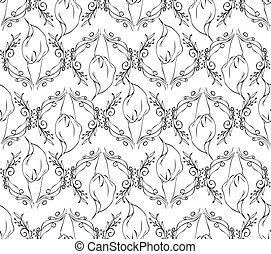 Calla seamless floral pattern