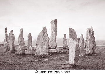 Callanish Standing Stones; Isle of Lewis; Western Isles; Outer Hebrides; Scotland