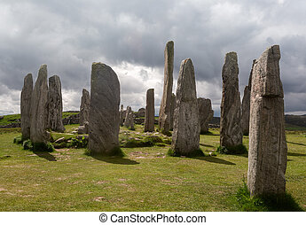 Callanish standing stones - Megalithic stone circle of 3000...