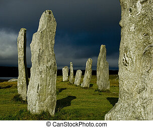 Callanish Stone Circle - Callanish Standing Stones, or stone...