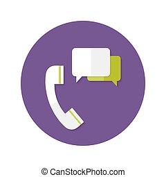 callback, koło, pomoc, płaski, ikona