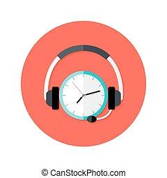 callback, koło, prośba, płaski, ikona
