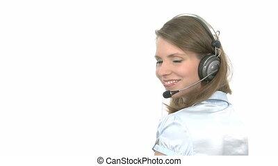 callcenter, agent, sourires