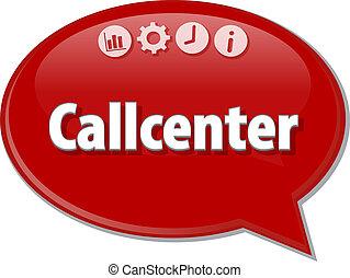 Callcenter   Business term speech bubble illustration