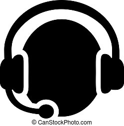 Callcenter icon with Headset